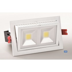 LED Rectangulaire Orientable COB 240 x 145 mm